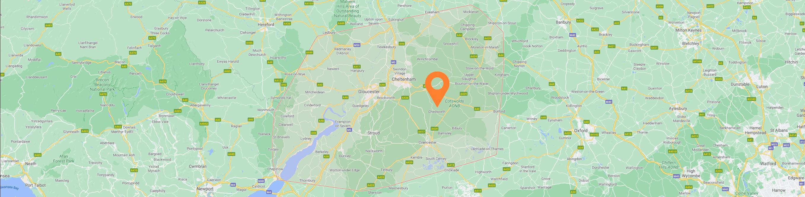 Corinium Arb - We are Here - Google Gloucestershire Map