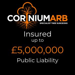 Corinium Arb - Public Liability Insurance - £5 Million Badge